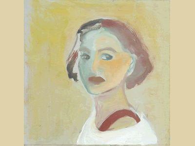 Fatima Pena auto retrato óleo 0,45 x 0,45 m 2002