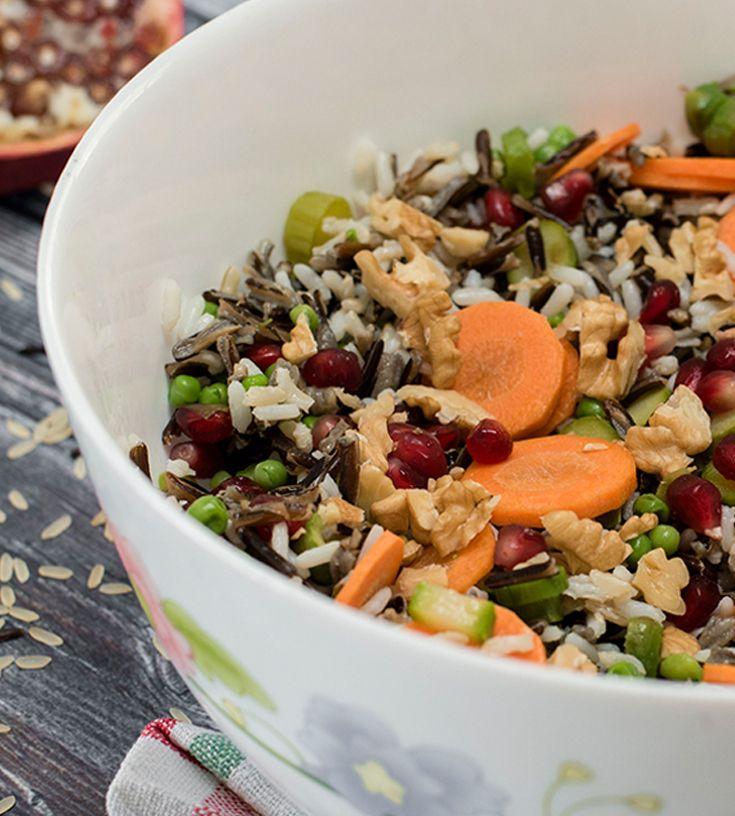 Wild Rice Salad سلطة الأرز البري Cooking Salad Food