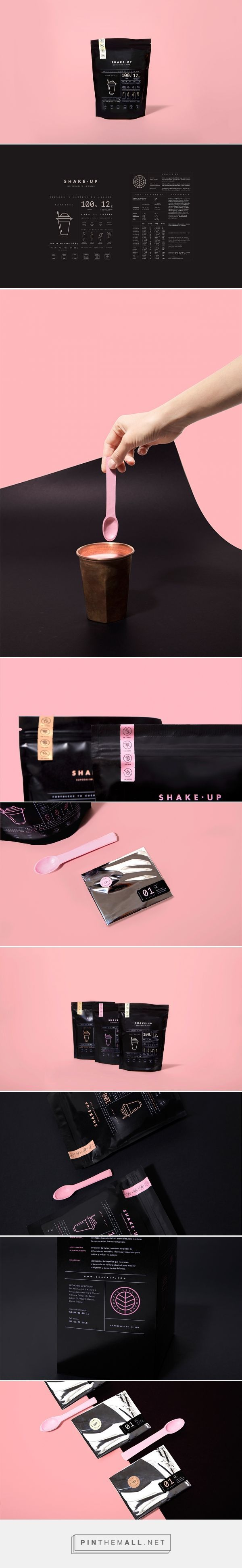Art direction, branding and packaging for Shake Up on Behance by Futura, Mexico City, MX curated by Packaging Diva PD. A vegan super food on powder special for those who don't have the time to have breakfast everyday.