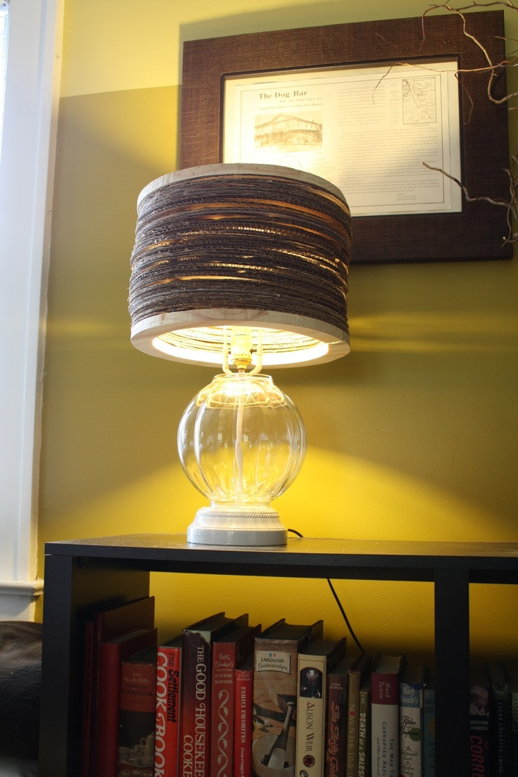 Charming An Upcycled Lamp With A Recycled Cardboard Shade (Anthropologie Hack) Design Ideas