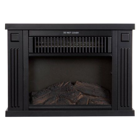 Northwest 13 inch Portable Mini Electric Fireplace Heater, Black