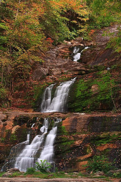 Kent Falls, Connecticut - photo by Mohit.Mehrotra, via Flickr