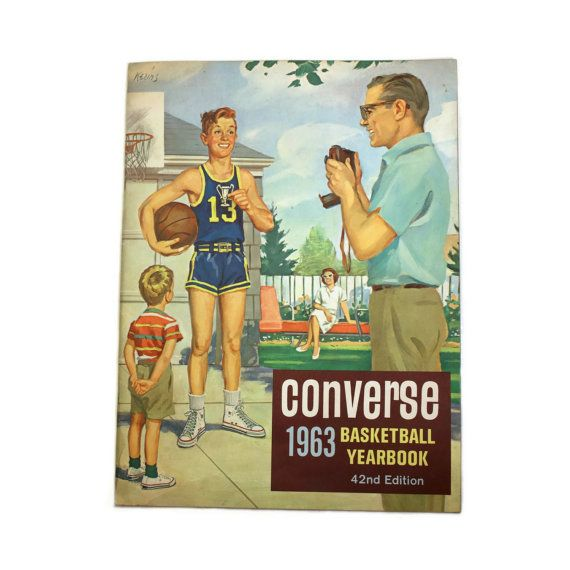 1963 Converse Basketball Yearbook - 42nd Edition Charles Kerins Sports Collectible Mid Century Sports Scholastic Sports Home Decor by BatnKatArtifacts