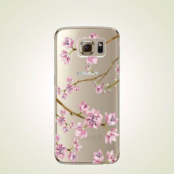 Cherry Blossom TPU Soft case Samsung Floral by LittleThingsCafe