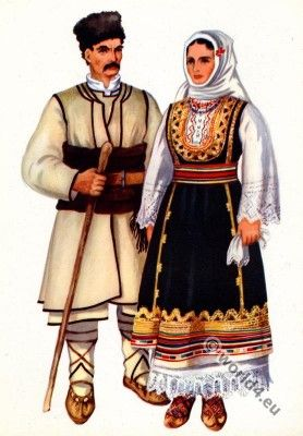 Serbian national costumes from Crna Trava.