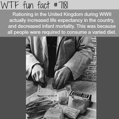 How Rationing Helped Improve The Life Expectancy Of The Uk Fun Fact