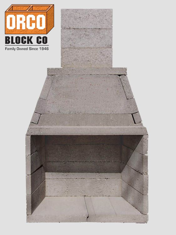 Orco Product Burntech Modular Masonry Fireplace Kit Outdoor Living Series Outdoor Patio