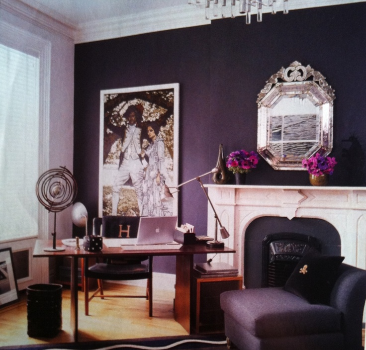 Dark Bedroom Color Schemes Victorian Era Bedroom Decor Modern Bedroom Furniture For Girls Bedroom Sets In White: Paint Only Fireplace Wall Dark Aubergine