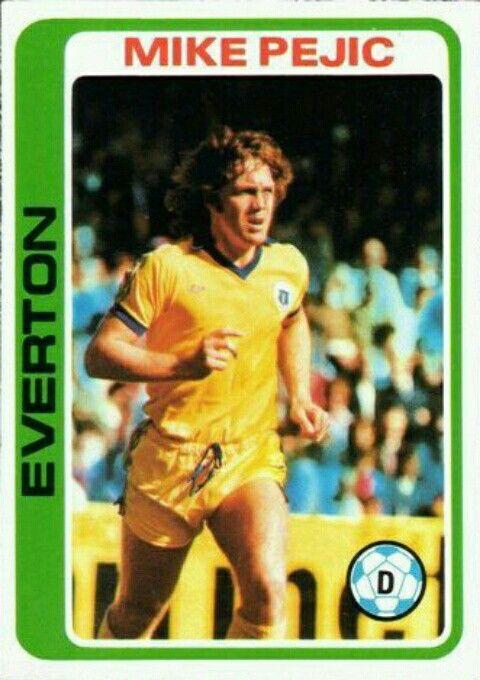 Mike Pejic of Everton in 1977.