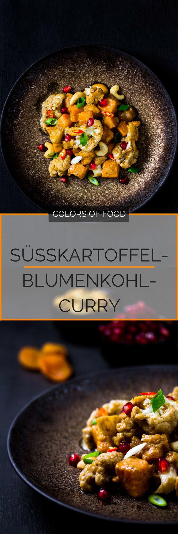Ich habe heute ein leckeres, aromatisches Süßkartoffel-Blumenkohl-Curry für dich, dem nur schwer zu widerstehen ist. Und schön erfrischend ist es auch noch!