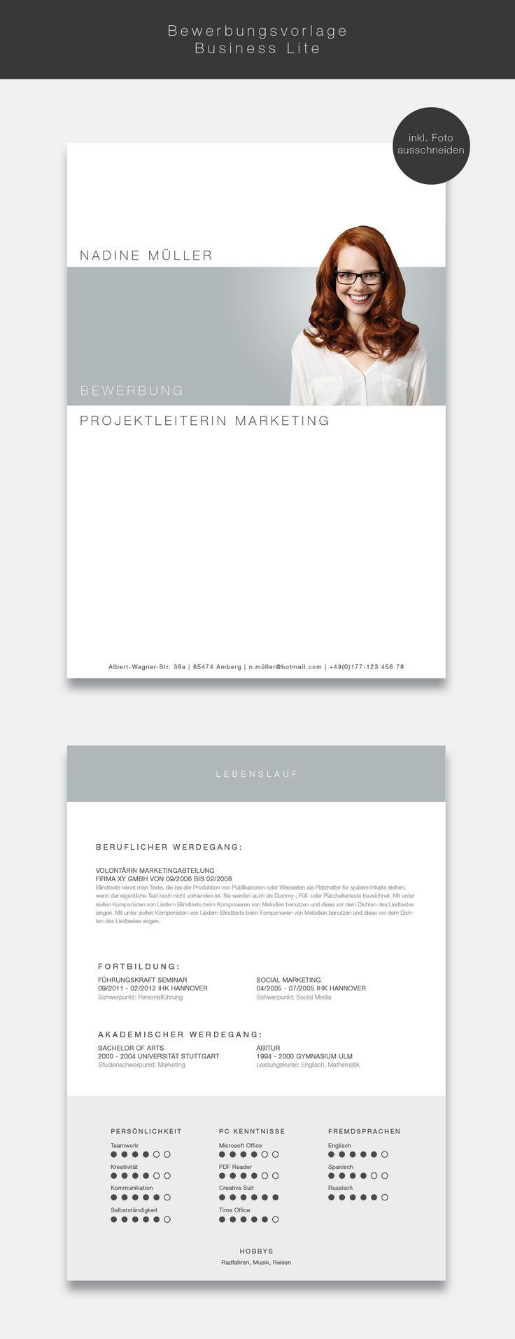 """Ab jetzt neu in unserem Shop. Die Bewerbungsvorlage """"Business Lite"""" ( #cvtemplate ) in der Farbe Light Grey. Mit der stilsicheren Vorlage """"Business Lite"""" heben sie sich von allen anderen ab und zeigen, dass kein Weg an Ihnen vorbeiführt. Sie erhalten von uns ein Deckblatt, Anschreiben, Lebenslauf, Motivationsschreiben und eine Abschlussseite. Die Datei bekommen Sie als fertige Pages- oder Word-Datei inklusive Platzhaltertext mit Hinweisen. #grafikdesign #business"""