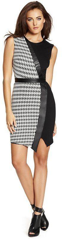 Hayden Houndstooth Jacquard Dress
