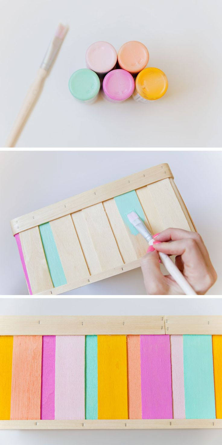 10 minute diy - painted ikea wood boxes   www.homeology.co.za  #DIY #crafts