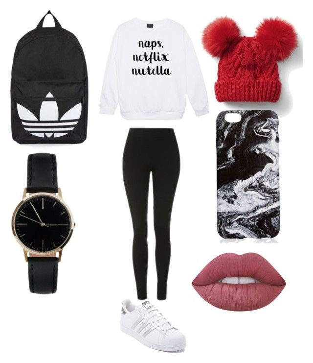 """Naps, Netflix, Nutella"" by sophievanderkooy on Polyvore featuring Topshop, adidas, Gap, Lime Crime and Freedom To Exist"