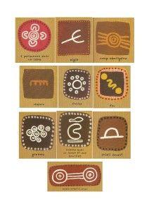 GRAPHISME: symboles aborigènes                                                                                                                                                                                 Plus