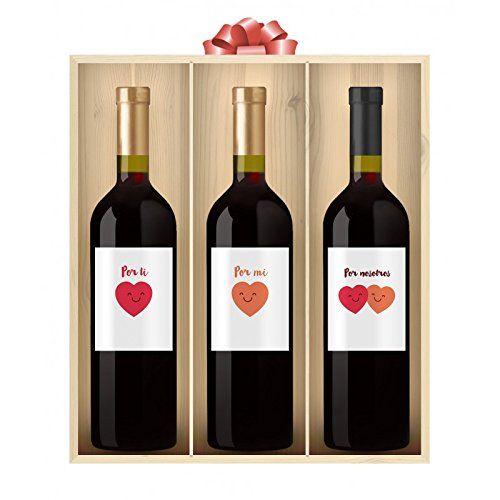 """Pack de 3 Vinos Personalizados """"Por nosotros"""""""