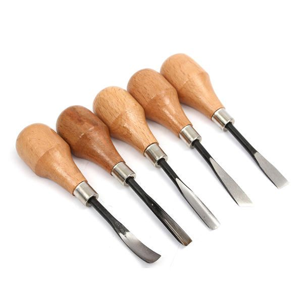 5 PCS Wood Working Tool Carving Chisels Set Knife DIY Tools For Lathe Wood Cut Working