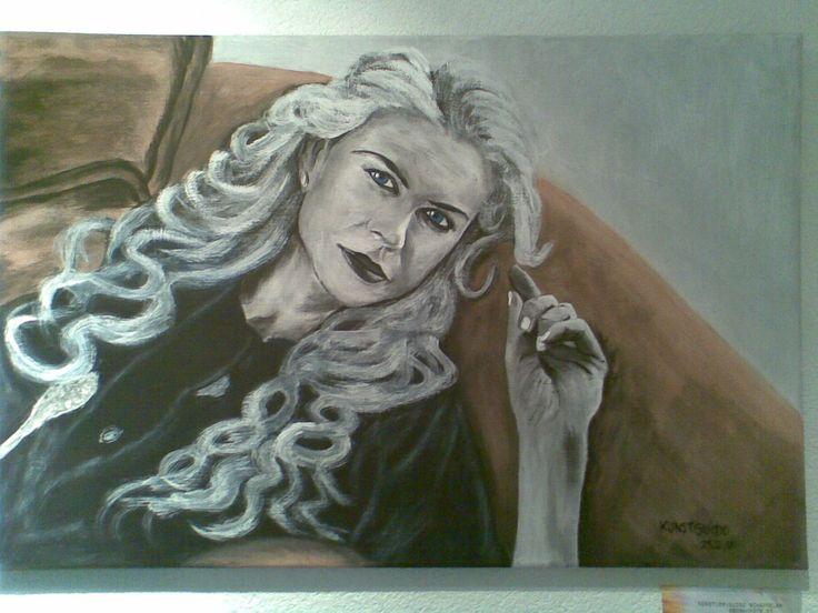 """Dieses Gemälde stellt die Berühmte Hollywood-Schauspielerin """" Nicole Kidman"""" dar. Sehr bekannt aus zB. : """"The Others"""", """"Der Kompass"""", """"Australia"""" usw. ....Auch gemalt in Acryl, 60x40x2 auf Leinwand...kg"""