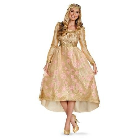 Plus Size Disguise Costumes Women's Maleficent Aurora Deluxe Coronation Gown Adult Costume, Plus (18-20), Gold, 1 ea, Size: 18 to 20, Multi