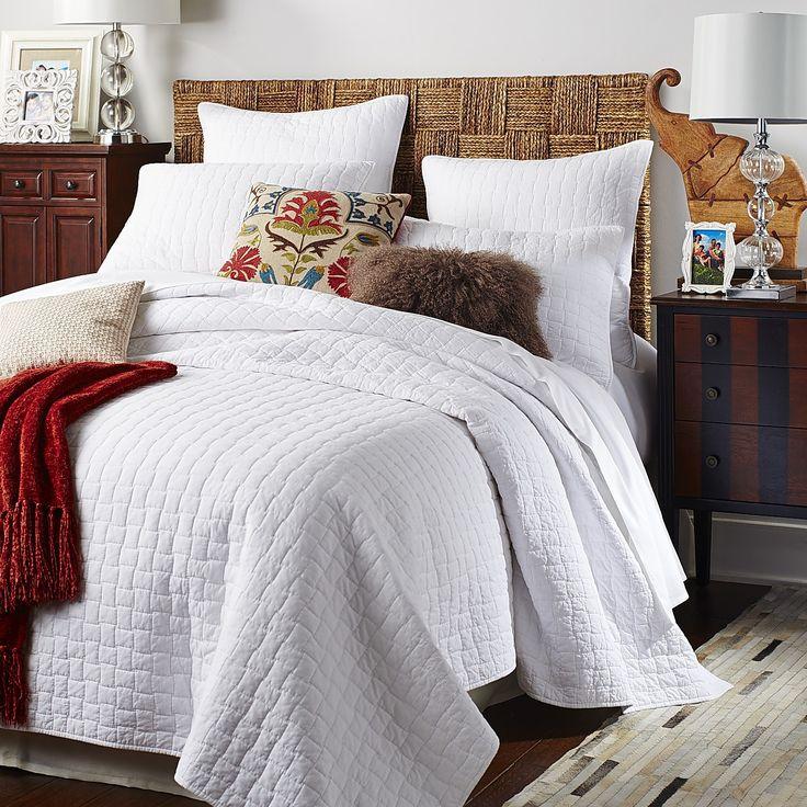 48 best  Bedding   Quilts   Quilt Sets  images on Pinterest Weston White Quilt   Sham. Bedroom Quilts. Home Design Ideas