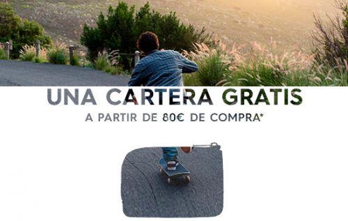 Cartera GRATIS con el cupón promocional de Quiksilver