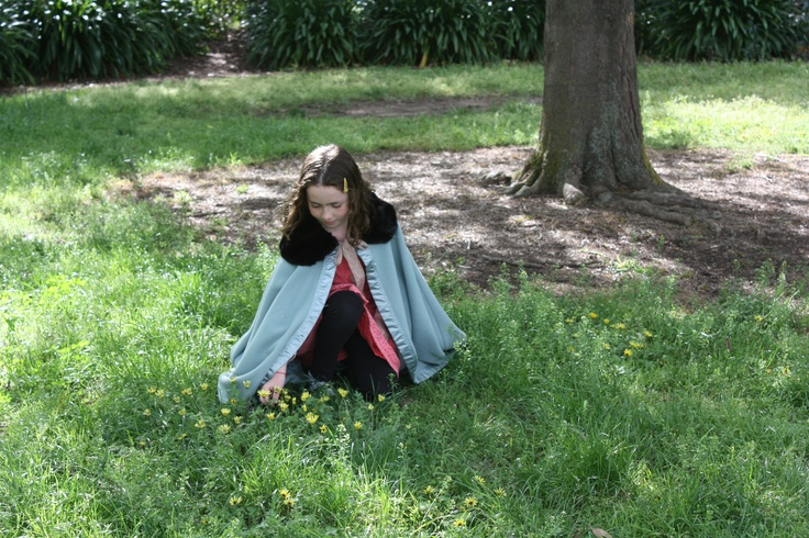 Recycled wool blanket cape with fur trim  By Hill and Vale Designs