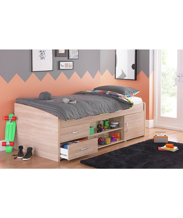 Buy Yanniek Oak Cabin Bed with Elliott Mattress at Argos.co.uk - Your Online Shop for Children's beds, Children's beds, Children's beds.