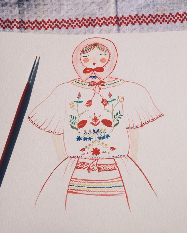 """""""La blouse roumaine"""" watercolor illustration"""