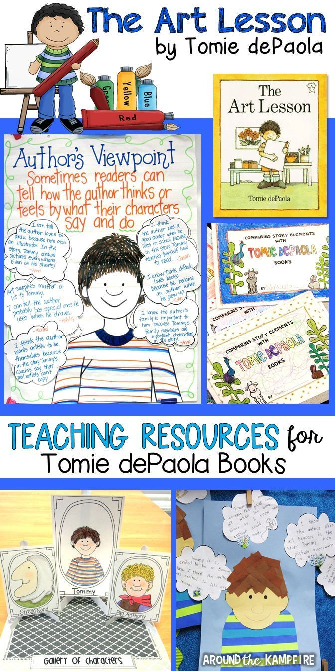 Hands-on reading and writing activities and teaching resources for The Art Lesson by Tomie dePaola. Part of a best selling Tomie dePaola author study for 1st, 2nd, and 3rd grade students
