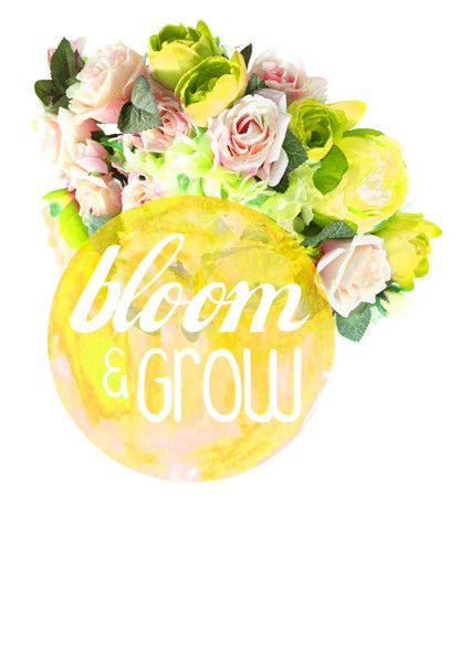 Yellow Bloom Flower Quote Art from Artifax