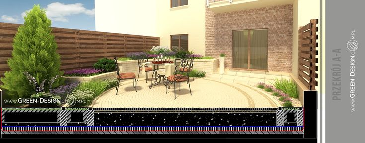 Small garden project - visualizations in 3dsMax by Green Design Landscape Architecture, Poland www.green-design.com.pl