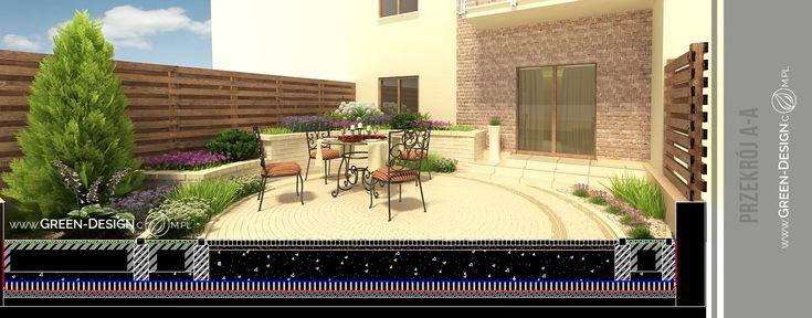 Small garden project - visualizations in 3dsMax by Green Design Landscape Architecture, Poland www.green-design.com.pl