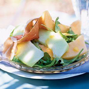 Prosciutto and Melon Salad with Cantaloupe Vinaigrette | A fresh interpretation of the classic Italian antipasto