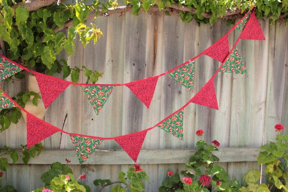 Christmas Baubles Bunting 4m long with 50cm by Buntingbybubbles
