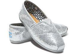 TOMS | Classic Silver Glitter, hopea