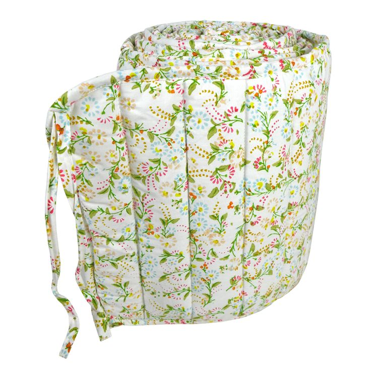 Original mini floral cot bed bumper