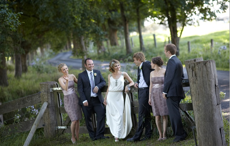 casual posed bridal party... lovely