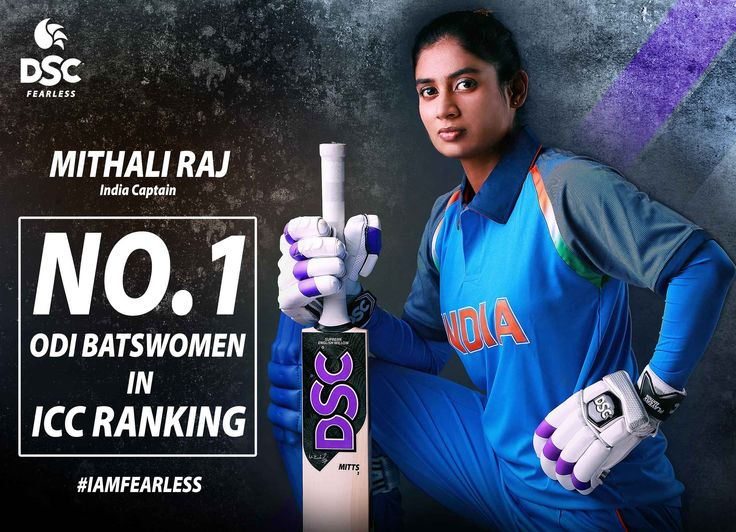 Congratulations to India's ODI captain and DSC REBEL Mithali Raj for superseding Meg Lanning to claim the Top Spot on the ICC rankings in women's ODIs.  #DSC #WomenInBlue #icc #cricket