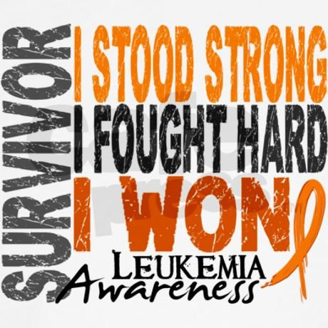 Survivor 4 Leukemia Shirts and Gifts T-Shirt on CafePress.com - I can't wait to get this for my son. <3