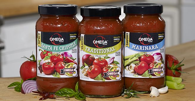 What makes our pasta sauces different? 200mg of #omega3, that's what! (Oh, and they're delicious!)