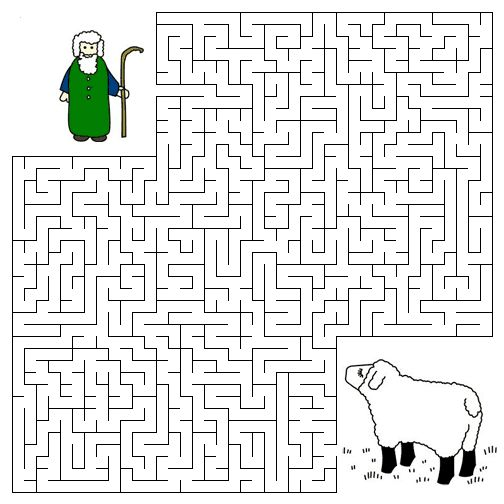 Lost sheep mazepng 504504 Christian Coloring Pages