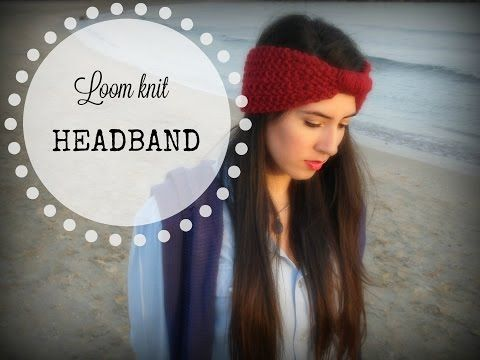 How to knit a easy headband in round loom - YouTube