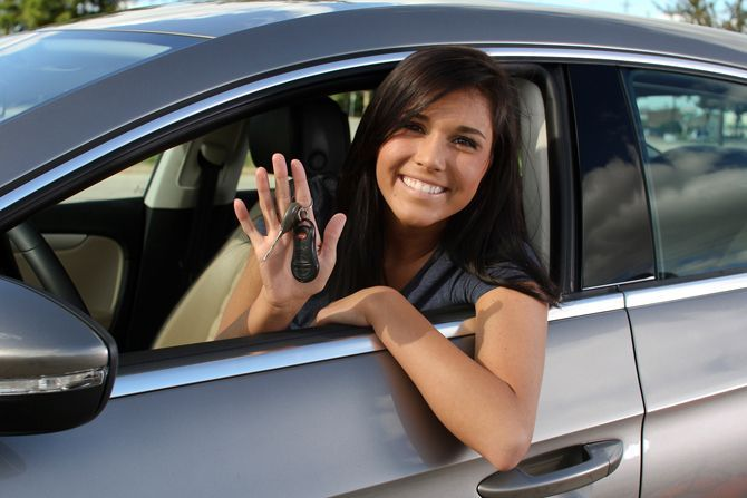 Young Female Driver Car Insurance Car Shop Car Purchase