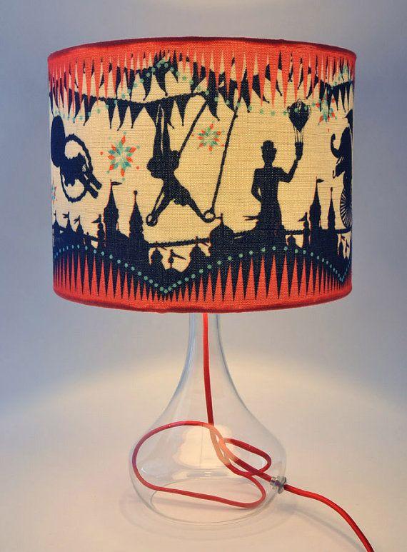 Circus Carousel Table Lampshade