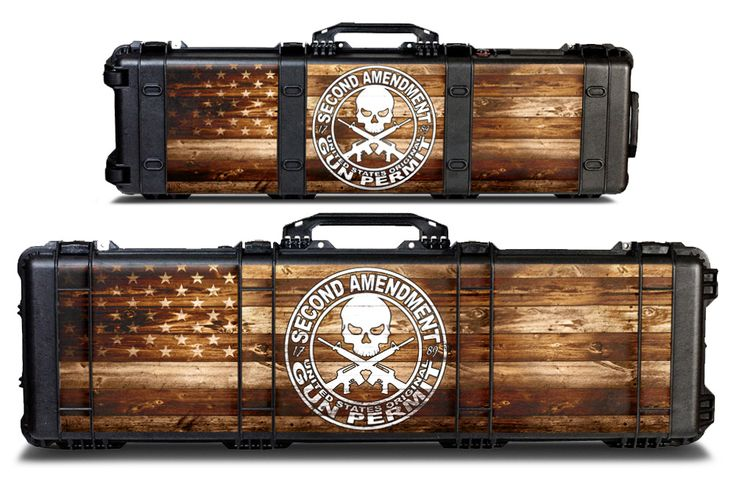Pelican Gun Case Accessories Graphic Wrap Kit for Model 1750 or 1720.  Choose from many designs! Available at - https://www.usatuff.com/collections/all-pelican-gun-case-graphics