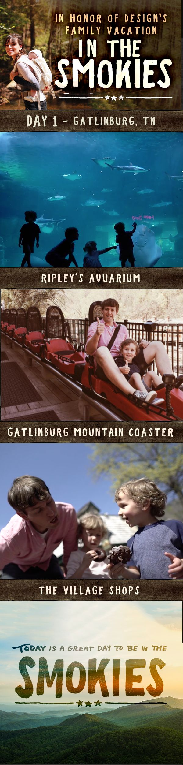 In Honor of Design's Family Vacation in the Smokies. Day 1 – Gatlinburg, TN @inhonorofdesign