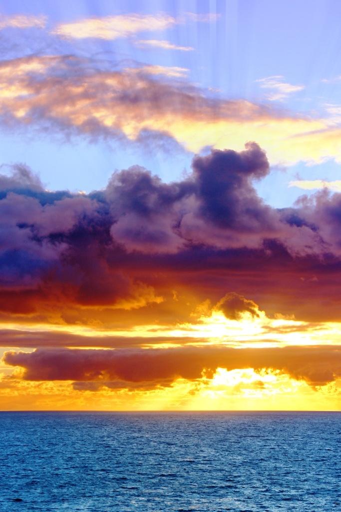 Sunrise through clouds - Hahei, New Zealand Beach, Summer, Ben Amies © 2012