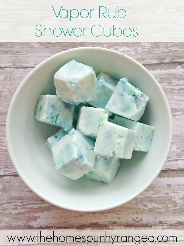 Really easy to make! DIY Vapor Rub Shower Cubes