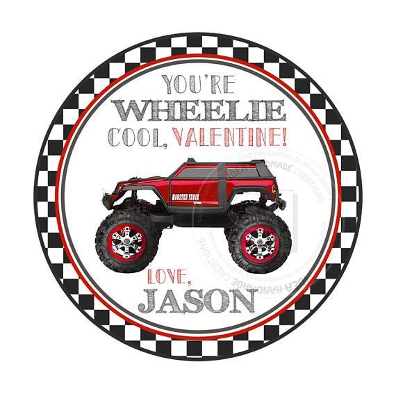 Valentine's 2.5 Printable Tags-Wheelie Cool