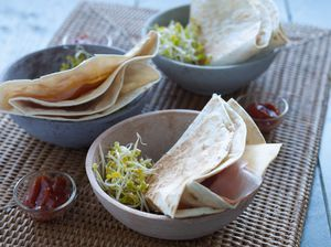 Recept Tortillatosti ham-kaas - Brood.net